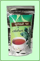 Черный чай со стевией и чабрецом